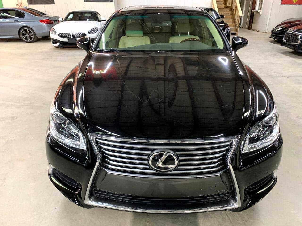 New black Lexus front view