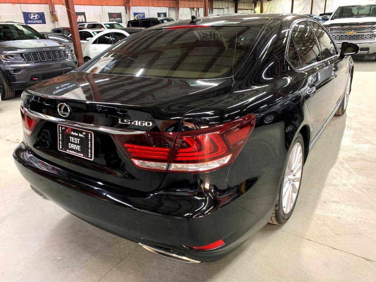 New black Lexus 3/4 back view