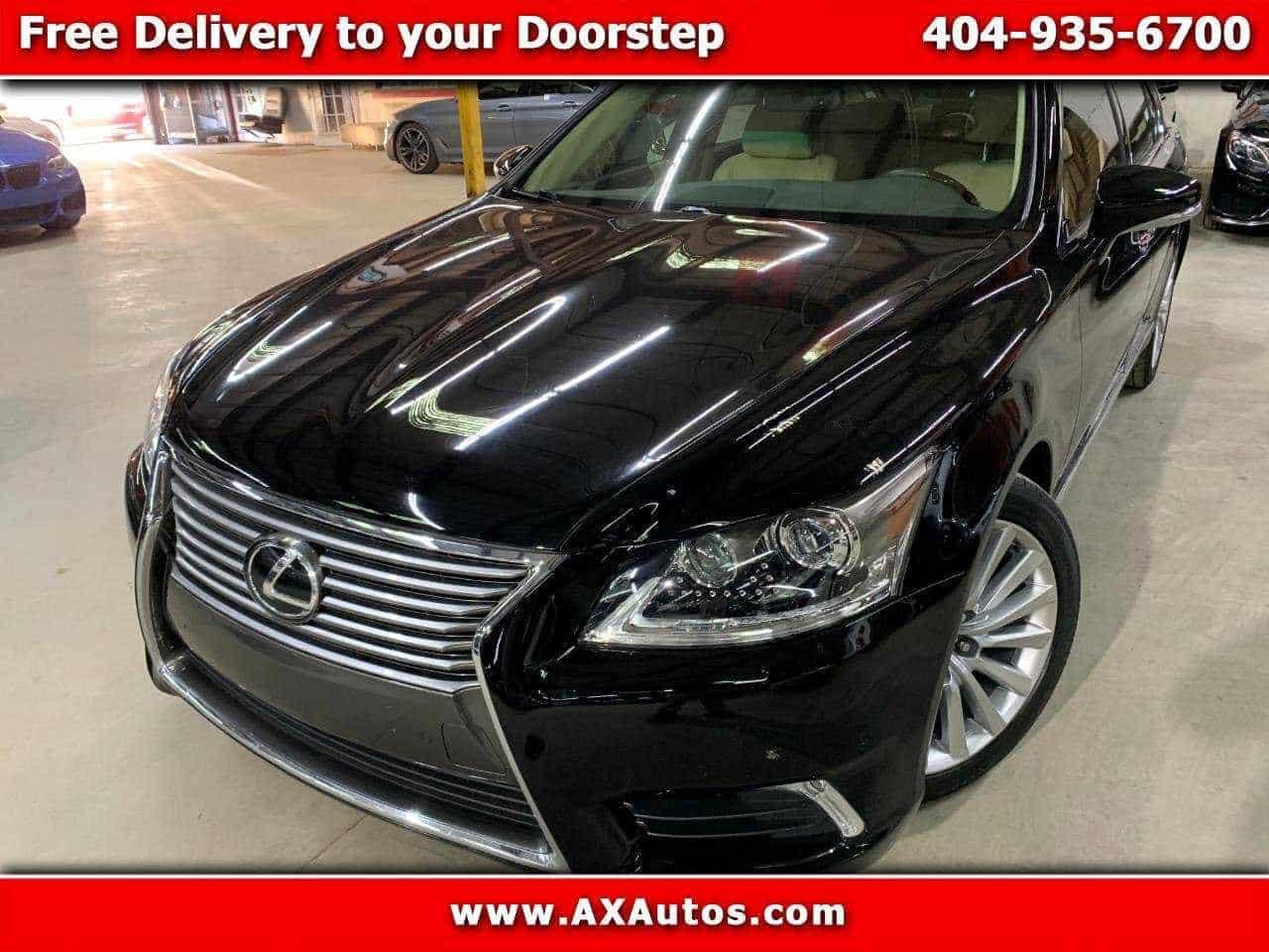 New black Lexus vehicle