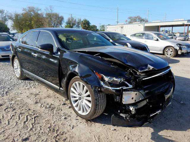 Broken Lexus 3/4 front view