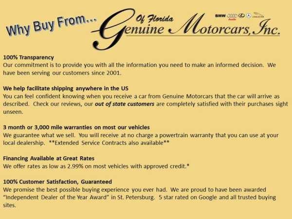 Genuine Motorcars Inc. of Florida
