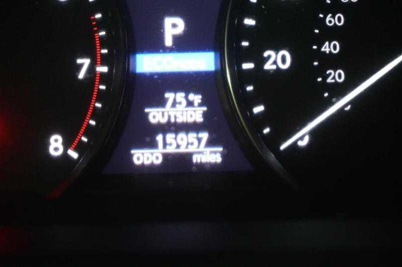 Lexus' mileage